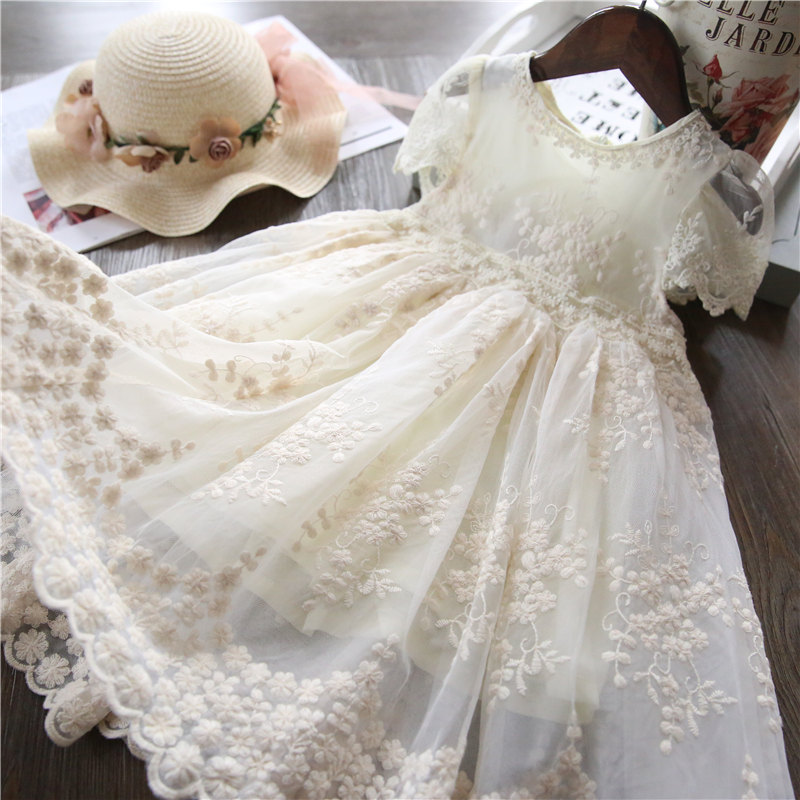 HTB1EdtqelCw3KVjSZFlq6AJkFXap Girl Dress Kids Dresses For Girls Mesh Casual Lace Embroidery Princess Baby Girl Clothes Summer Sleeveless Dress Kids Clothes