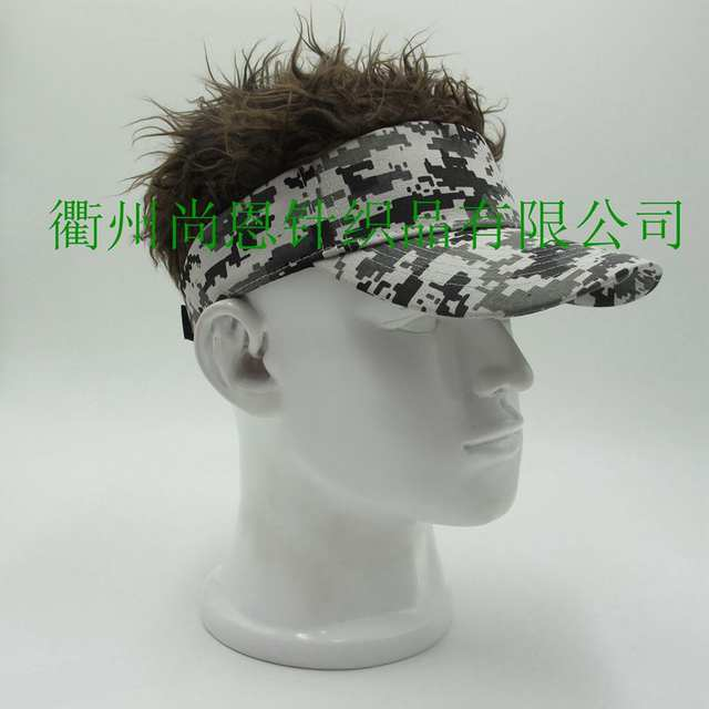 8b8fae74923 placeholder Hot Sale Novelty Baseball Cap Fake Flair Hair Sun Visor Hats  Man s Women s Toupee Wig Outdoor