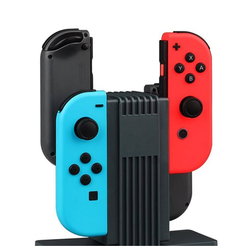 4 Slot For Joy Con Charging Cradle Stand Dock Station Indicator For Nintend Switch For NS