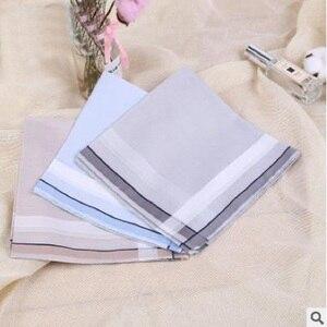 Image 3 - 12pcs Mens  Handkerchiefs 100% Cotton Square Super Soft Washable Hanky Chest Towel Pocket Square 43 x 43cm