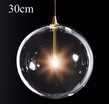 Image 5 - LukLoy Modern Bubble Clear Glass Ball Pendant Light Vintage Loft Kitchen Island Living Room Bedside Simple Retro Suspension Lamp-in Pendant Lights from Lights & Lighting