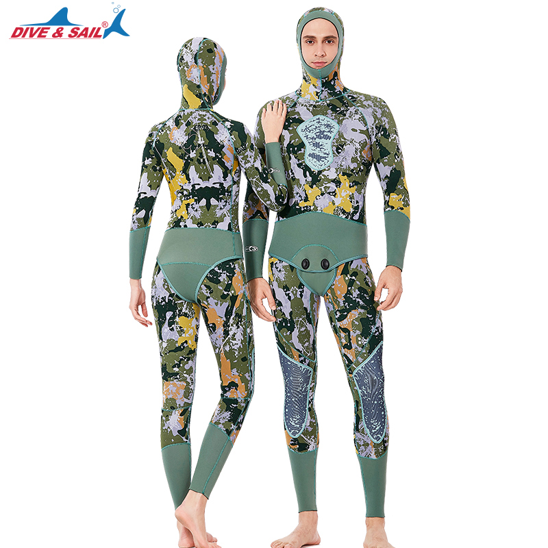 New Arrival Mens Womens 3MM Neoprene Wetsuit With Hood Two Piece Warm Wet Suit For Snorkeling Surfing Scuba Diving