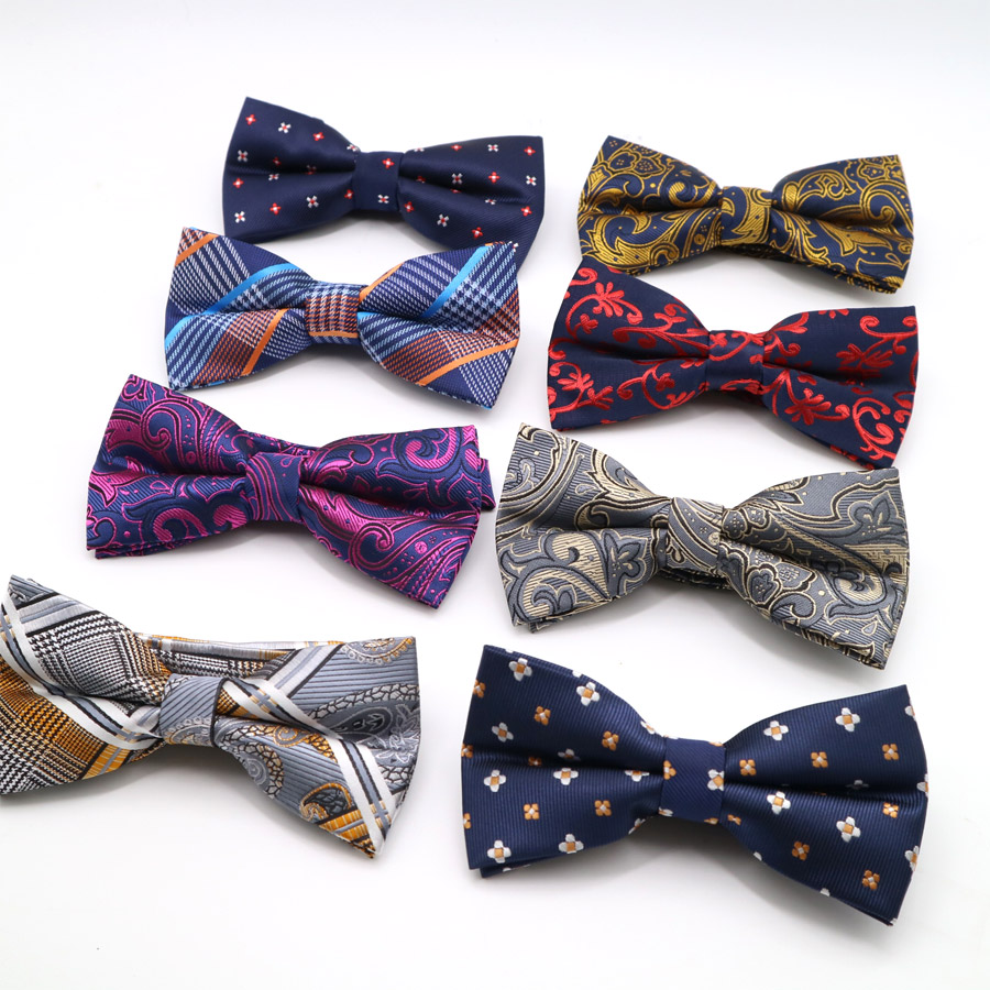 Fashion Men Polyester Silk Striped Polka Dot Tuxedo Bowties Neckties For Men's Wedding Party Bowtie Classic Adjustable Bow Ties