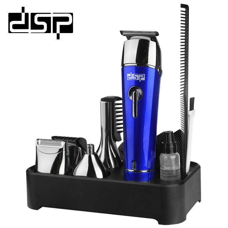DSP 5 in 1 Electric Hair Clipper Rechargeable Hair Cutting Beard Shaver Trimmer Waterproof Haircut 110V-220V 50/60HZ 3W rechargeable washable hair and beard trimmer clipper with accessories set 220 230v ac