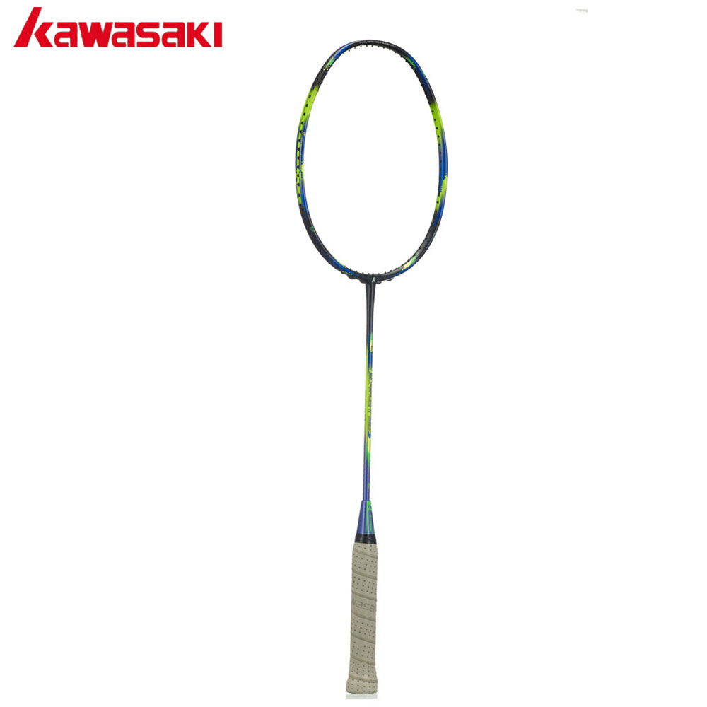 Kawasaki Brand Badminton Rackets 6U Airfoil Frame Offensive Type Carbon Racquet for Amateur Intermediate Player Super Light 680 quality broken wind chinese dragon badminton rackets carbon fiber professional offensive racquets single racket q1013cmk