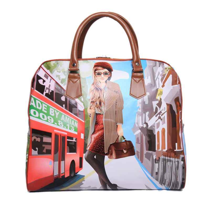 c2f123873fb3 ... 2018 Hot Sale Famous Brands Women s Cartoon Bag Women Luggage Travel  Bags Large Bag For Women