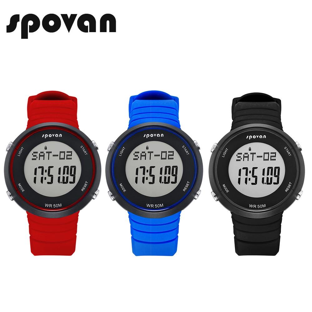 SPOVAN Smart Sport Watches, Digital LED Watch, Heart Rate Monitor/Waterproof (Free Heart Rate Belt) SPV900 стулья для салона led by heart 2015