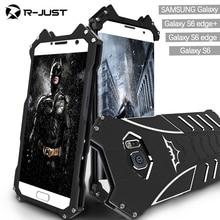 For samsung galaxy S6 S6 edge plus case,Armor Heavy Dust Metal Aluminum CNC BATMAN protect Skeleton head phone case+bracket
