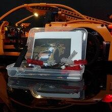 Светодиодный свет комплект ForTechnic Porsche 911 GT3 RS строительные блоки, совместимые с 42056/20001/3368/3368B/ 3368C