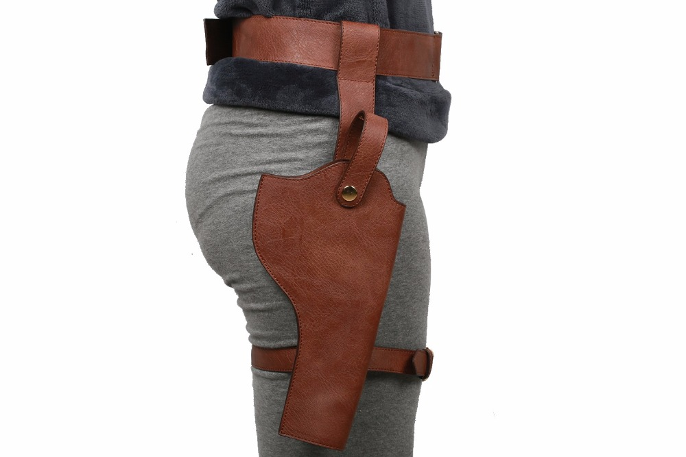 Tomb Raider Lara Croft Cosplay Belt Holster Costume Props Leather Halloween Cool