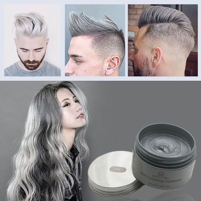 Meuty Pro Hair Style Color Products Hair Color Wax Dye One time ...