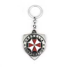 Resident Evil 2 Colors Alloy Keychain Umbrella Corporation Logo Shield
