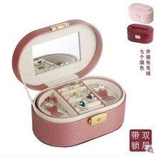 Caja de maquillaje caja de Maquillaje Bolsa de Cosméticos Organizador del artículo de Tocador de Viaje Esteticista Organizador Wash Maquillaje maquillaje Caja de La Joyería Caja