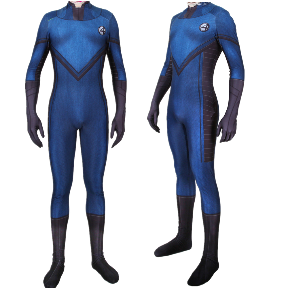 Movie Fantastic Four Cosplay Costume Superhero Zentai Bodysuit Suit Jumpsuits