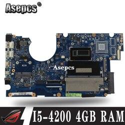 UX32LA I5-4200 CPU 4GB pamięci RAM płyta główna do For Asusa UX32LN UX32LA UX32L UX32LA-LN płyta główna laptopa testowany robocza