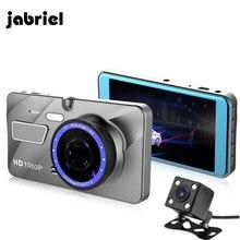 Автомобильный видеорегистратор Jabriel 2 4,0 дюйма с камерой заднего вида Full HD 1080 P с двойным объективом видеорегистратор Авто регистраторы автомобиля Dashcam