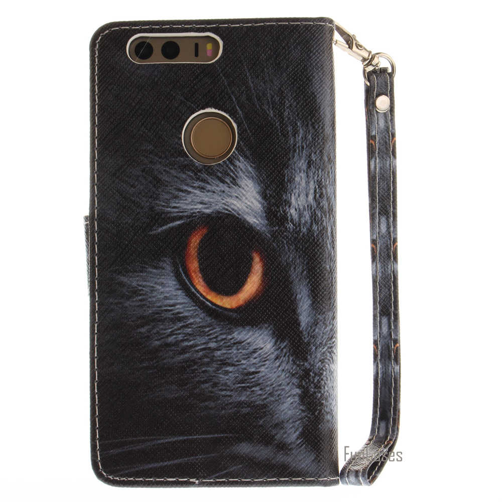 Fasion Animal Painted PU Leather Flip Wallet Case For Huawei Ascend P8 Lite 2017 Wolf Dog Pattern For Huawei Honor 8 P10 Lite P9