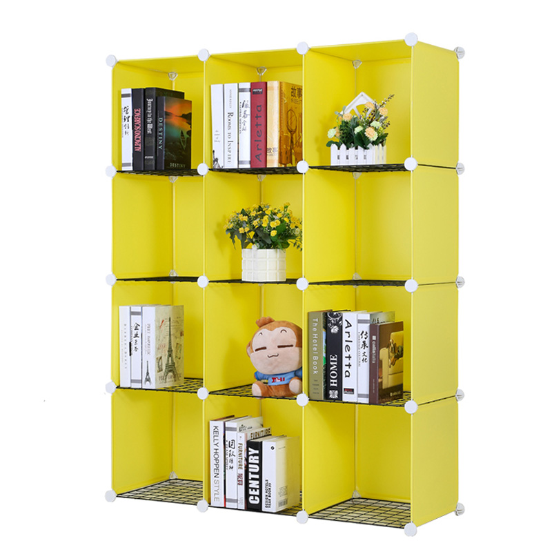costway resin plastic bookshelves diy 12 grid portable bedroom storage shelves organizer bookcase boekenkast librero w0237