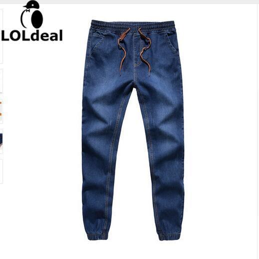 Loldeal Schließen bein jeans frühling 2018 neue mode männlichen taxi dünger XL elastic stretch pants füße hosen flut strahl