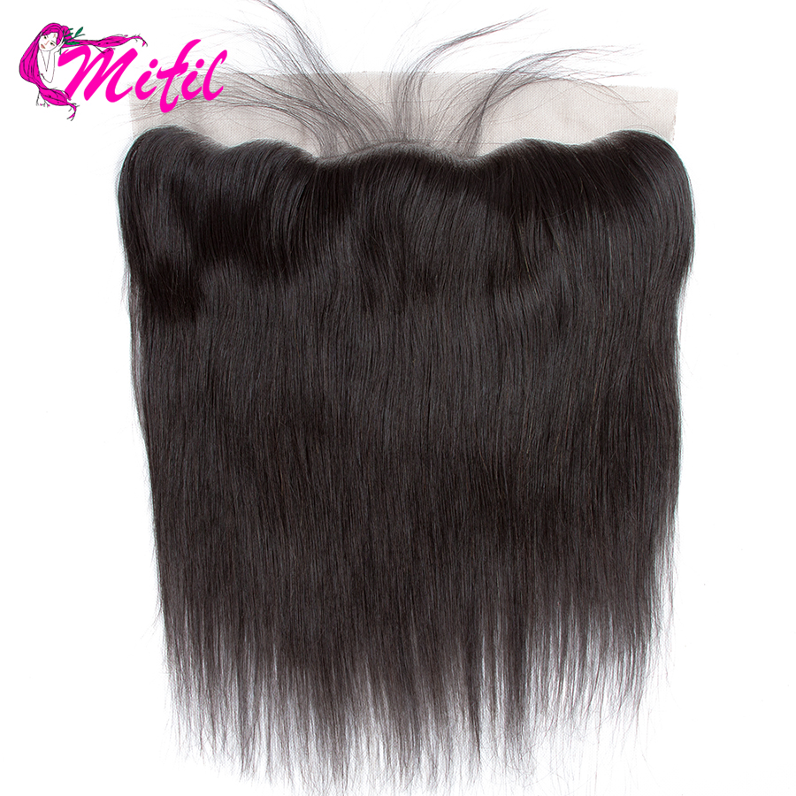 Mifil Brazilian Straight 13X4 Ear To Ear Human Non Remy Hair with Baby Hair