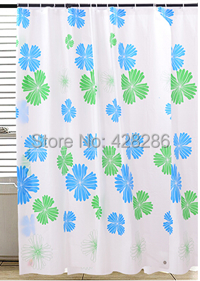 Fashion Home decoration FLOWER bathroom shower curtain Waterproof moldproof bath curtain 180 200cm With 12 Hooks FREE SHIPPING in Shower Curtains from Home Garden
