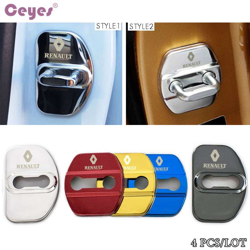 Ceyes Car Styling Auto Door Lock Cover Case For Renault Scenic Laguna Captur Megane 2 3 Fluence Latitude Car-Styling Accessories