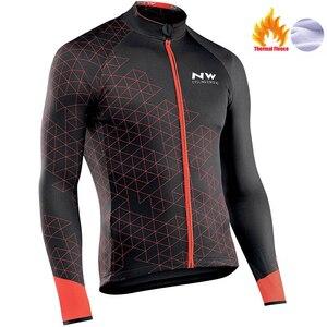 Image 4 - Nw 2020 camisa térmica de inverno para ciclismo, jaqueta corta vento de lã, quente, roupas para bicicleta