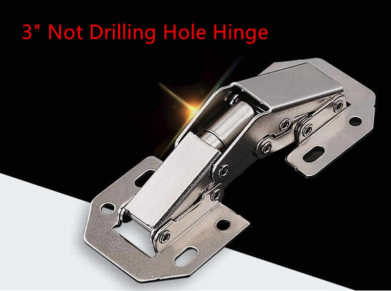 3 inch 90 Degree Not Drilling Hole Cabinet Furniture Hinges Bridge Shaped Spring Frog Hinge Full Overlay Cupboard Door Hinges
