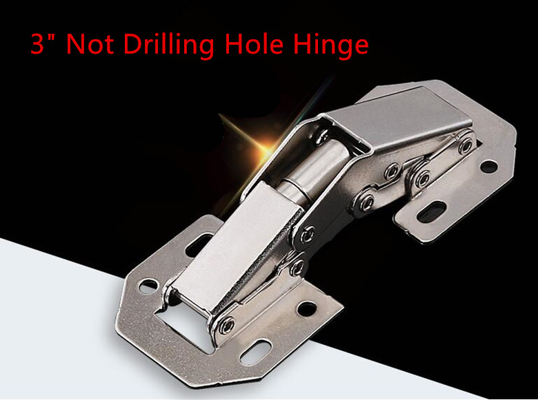 цены 3 inch 90 Degree Not Drilling Hole Cabinet Furniture Hinges Bridge Shaped Spring Frog Hinge Full Overlay Cupboard Door Hinges