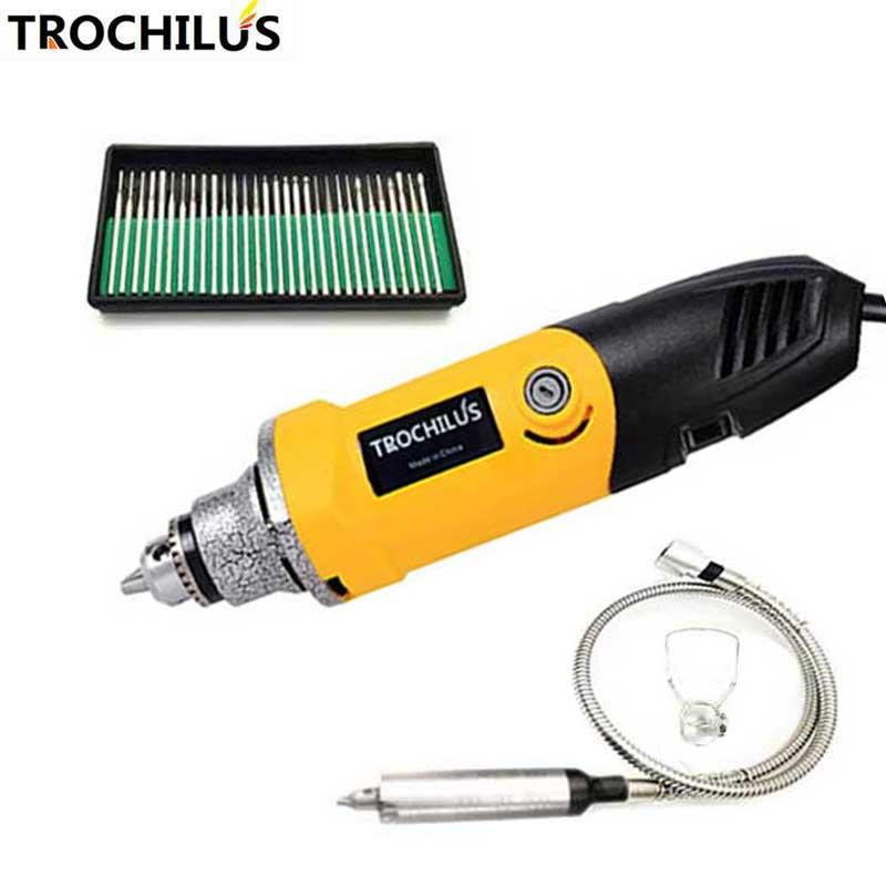 Trochilus drill 400W polisher mini dremel accessories Adjustable electric rotary engraver drill tool kits mini szlifierka80428 bdcat 400w mini drill engraver rotary