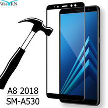 9H Full Coverage Tempered Glass Film for Samsung Galaxy A8 2018 SM-A530 Screen Protector FOR Samsung A8 2018 цены