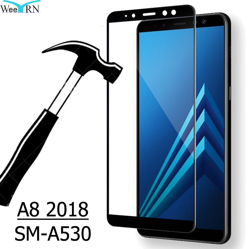 8f0707d4c SM A530 9H Película De Vidro Temperado para Samsung Galaxy A8 2018 Tela  Bordas Completas Película Vidro em Protetores de Tela do telefone de  Celulares ...
