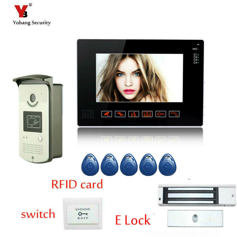 Yobang Security 9 inch Monito video door phone intercom system video doorbell Alloy camera Video door bell interphone Kit