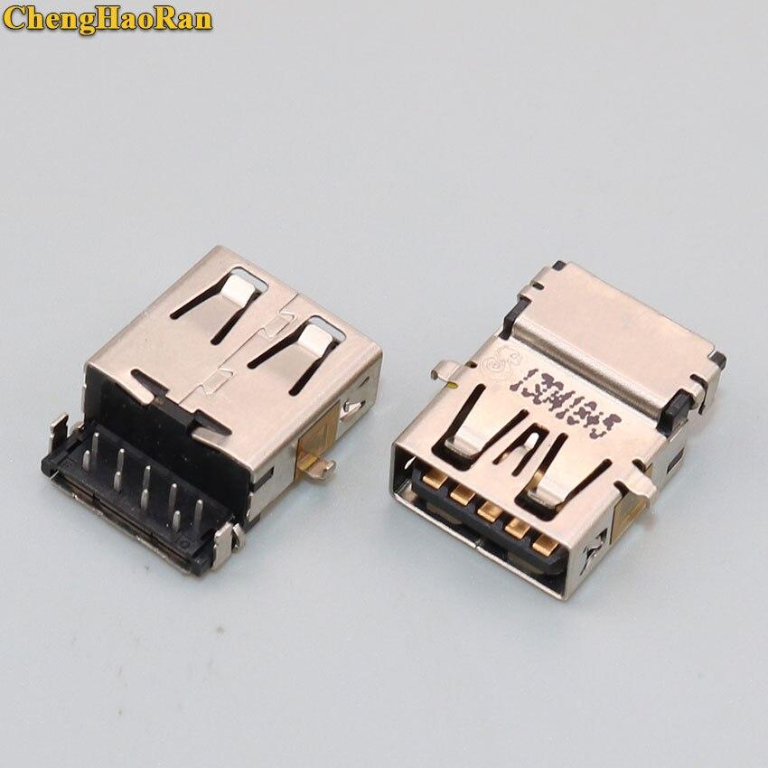 ChengHaoRan 5pcs USB 3.0 Jack Connector Female Socket For ASUS/Lenovo/HP/Samsung/Sony/Toshiba/Laptop