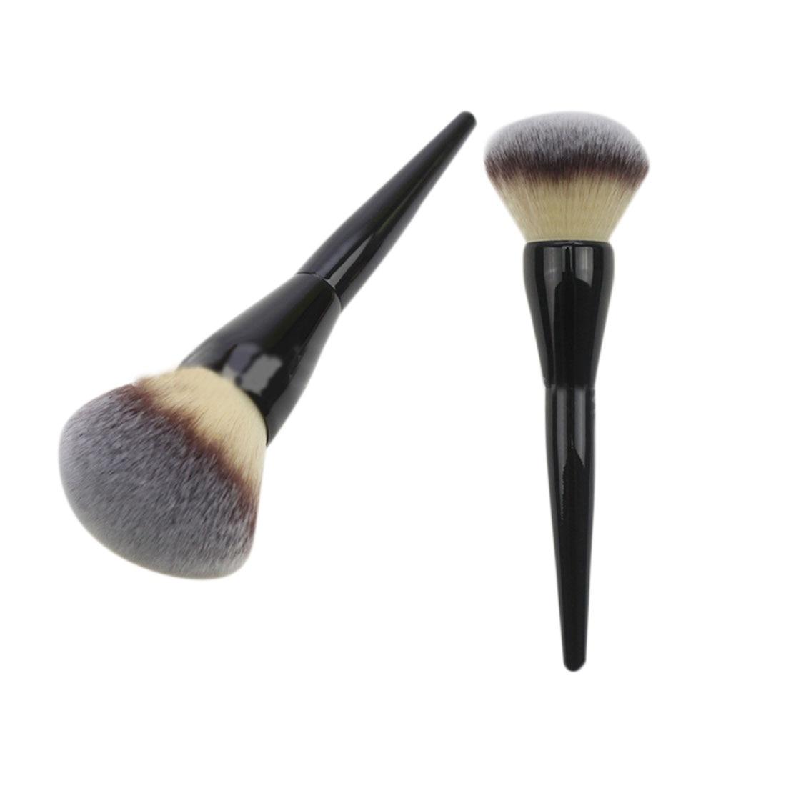 Big Size Beauty Powder Brush Blush Foundation Round Make Up Tool Large Cosmetics Aluminum Brushes Soft Face Makeup mac beauty powder too chic украина