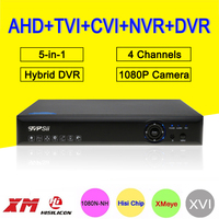 Three In One DVR 4 Channel 1080P 1080N 960P 720P 960H Hisilicon Chip Coaxial NVR AHD