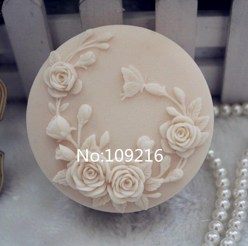 Groothandel! 1 stks vlinder en bloemen (ZX107) handgemaakte zeep schimmel ambachten diy siliconen mal