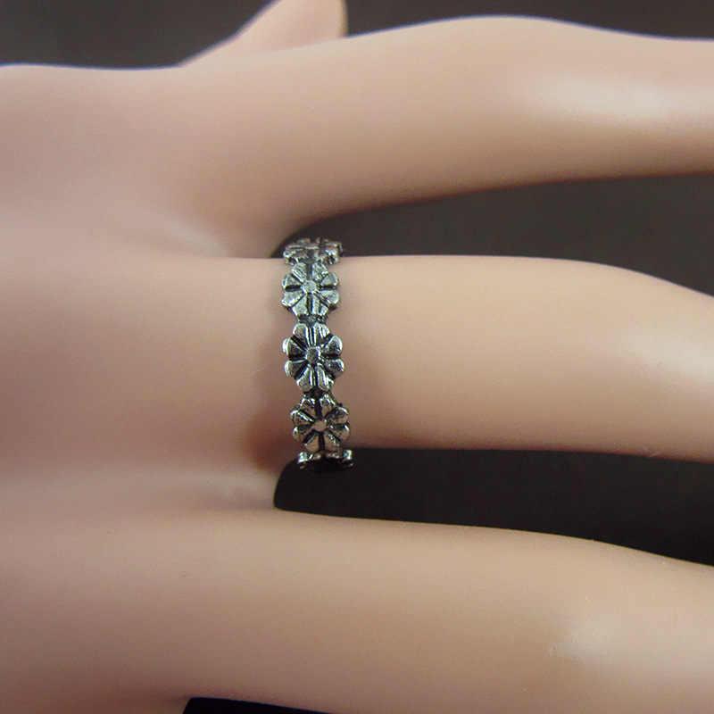 Винтаж Маленькая ромашка суставов кольца для суставов палец для Для женщин пляжные украшения Ретро регулируемое кольцо на палец ноги стопы Для женщин ювелирные изделия