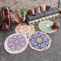 Round shaped Mandala culture decorative carpet ,Kilim pattern living room carpet , ground mat, big size Persian bedside carpet