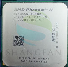 B55 X2 3.0 GHz מעבד מעבד כפול ליבת AMD HDXB55WFK2DGM 80 W Socket AM3 938pin(China)