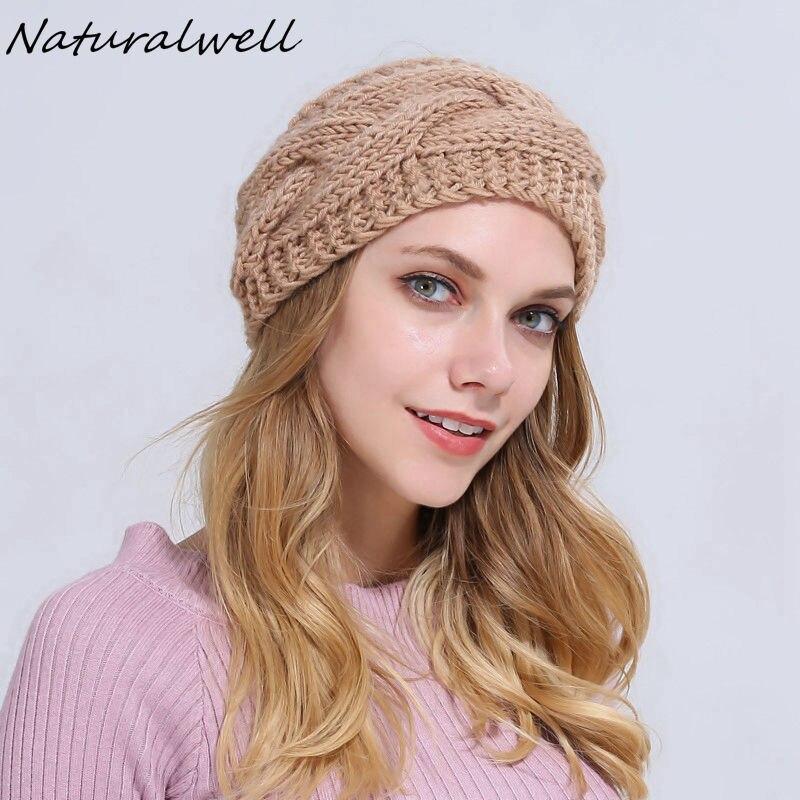 ᗕNaturalwell crochet earwarmer invierno sombrero todo a través de ...