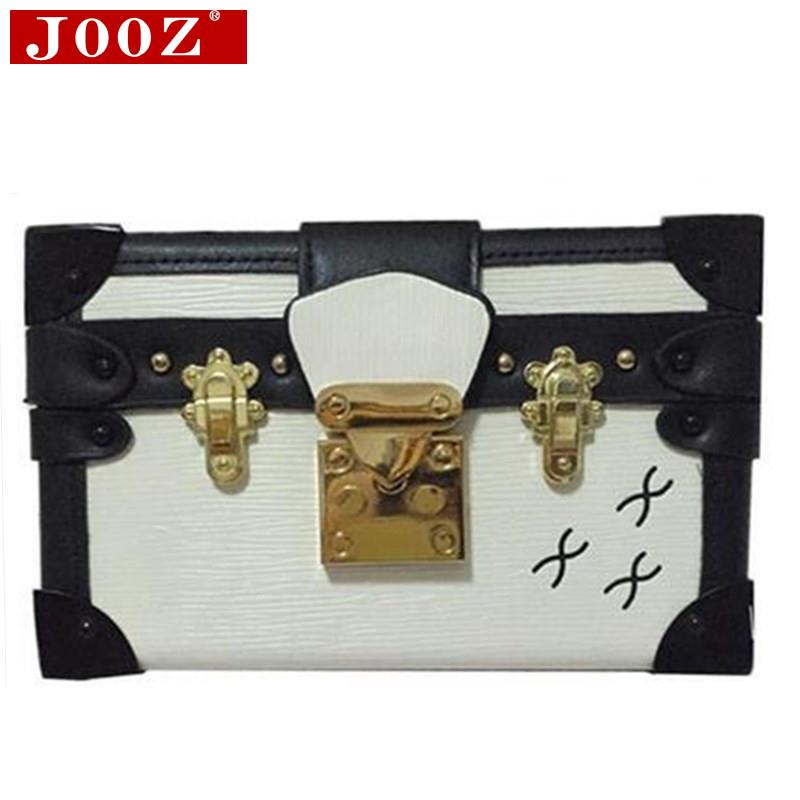JOOZ 2015 Luxury Designer Women Messenger Bag High Quality Famous Brand Leather Box Party Clutch Handbag Lady Shoulder Bags