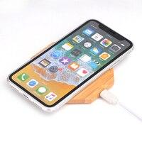 Qi hızlı ahşap bambu kablosuz şarj için iphone x lg g3 g4 g5 g6 v10 v30 note8 samsung galaxy not 8