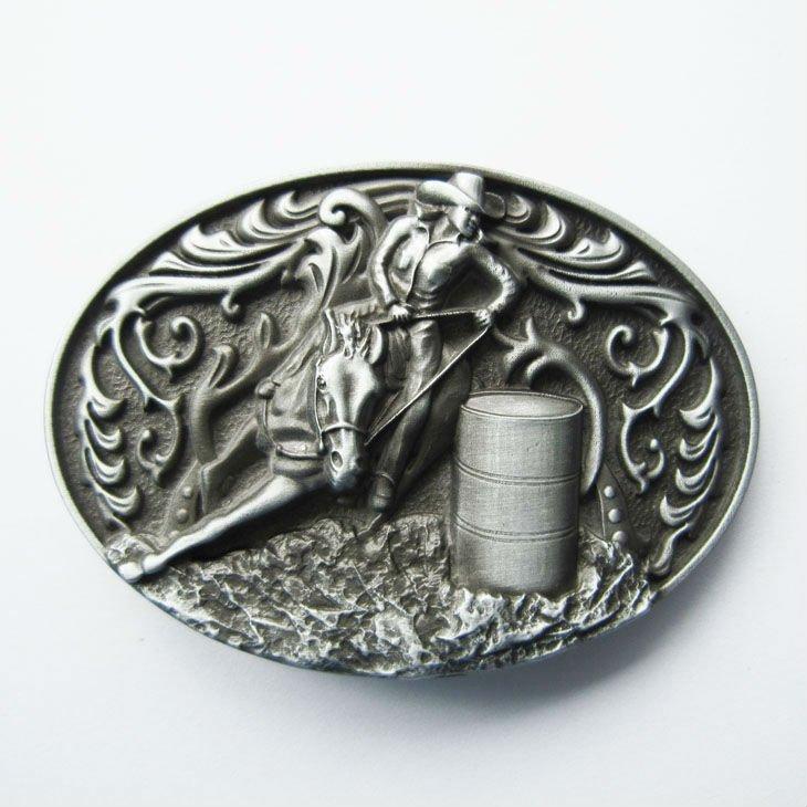 Western Flower Cowboy Cowgirl Oval Belt Buckle Gurtelschnalle Boucle de ceinture