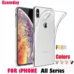Роскошный прозрачный мягкий силиконовый чехол из термопластичного полиуретана для iPhone 7, 8, 6, 6s, Plus, 7 Plus, 8 Plus, X, XS, MAX, XR, прозрачный чехол для те...