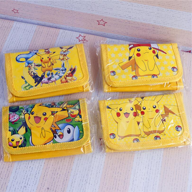 12Pcs Pokemon Pikachu Cute Kids Cartoon Pouch Children Wallet Party Gift toy cartoon short wallet pocket monster pokemon satoshi pikachu short wallets two fold purse children wallet gift