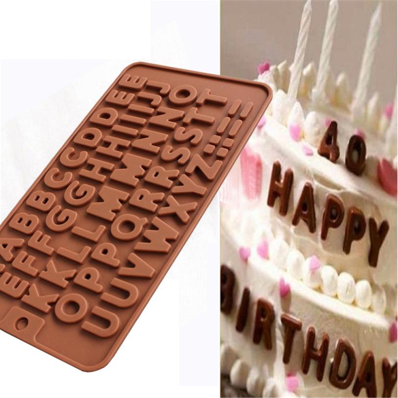 Kitchen,dining & Bar Painstaking 26 Letter Silicone Chocolate Mold Cake Mold Mould Crafts Cookie Candy Ice Cube 2o0314 Bakeware