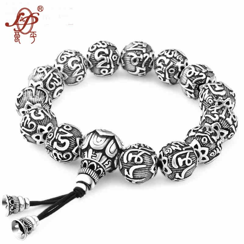 L&P Bracelet 925 Sterling Silver Bracelets&Bangles For Men Jewelry Thai Silver Rope Chain 18-21CM Fine Present For Boyfriend 925 silver bracelet men 8mm 21cm long mens bracelets