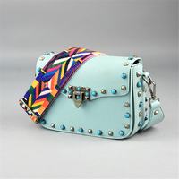 KEYTREND Small Rivet Flap Shoulder Crossbody Bag Women PU Leather Handbag High Quality Ladies Fashion Messenger