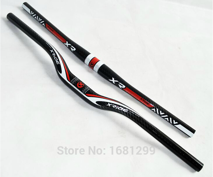 New Mountain bike full carbon fibre bicycle handlebars 31.8*600-740mm MTB parts